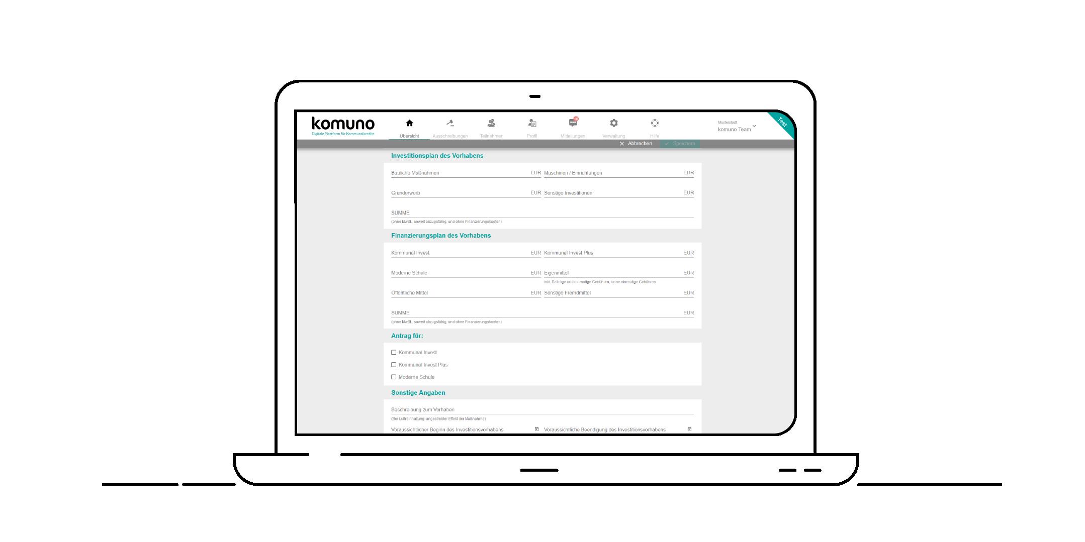 komuno_Investitions-und-Finanzierungsplan